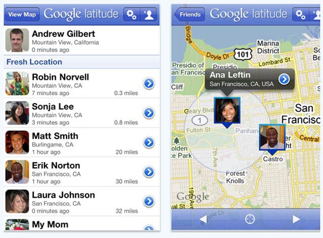 Google vydal aktualizaci pro Google Latitude