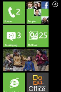 Prodeje telefonu Microsoft Windows Phone 7