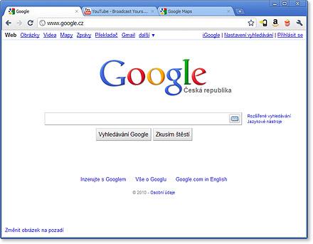 Podíl používání internetových prohlížečů