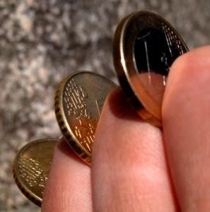 Peniez v ruce
